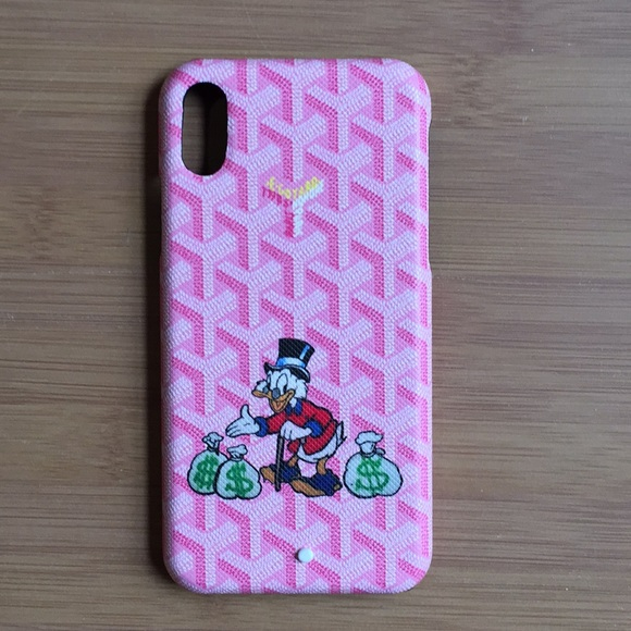 Goyard Pink Monopoly Man Case Iphone X